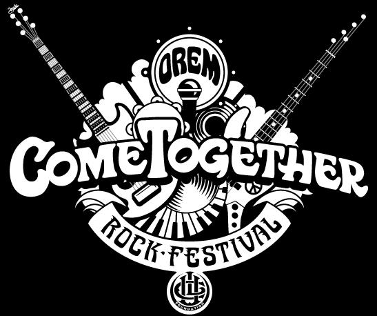 Orem Come Together Festival Black and White Logo