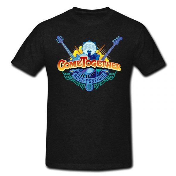 Black Come Together Color Logo T-Shirt