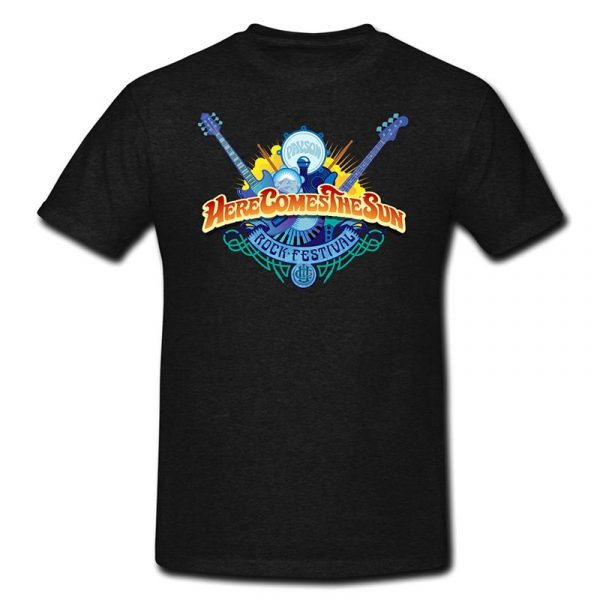 Black Here Comes The Sun Rock-Festival T-Shirt