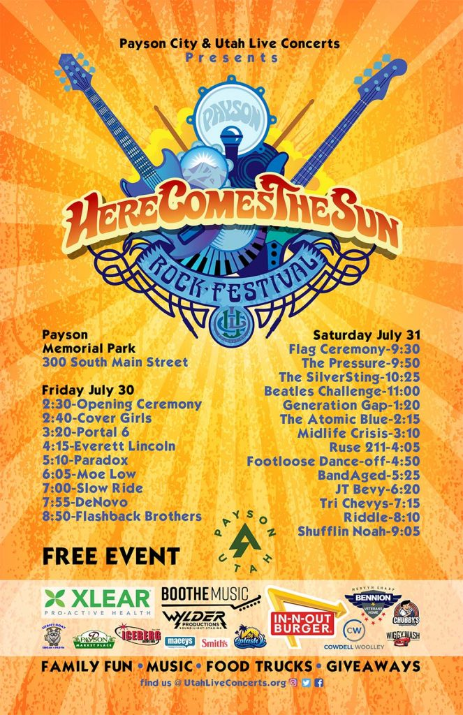 2021 Payson Here Comes The Sun Rock Festival with Bands