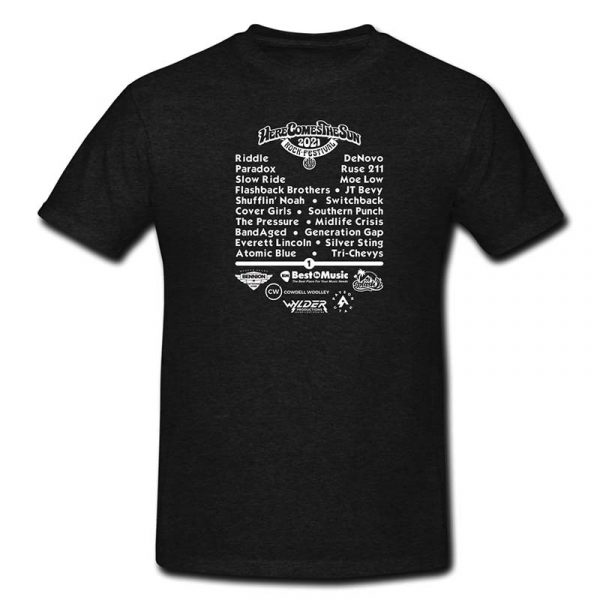 2021 Payson Here Comes The Sun Rock Festival T-Shirt Back
