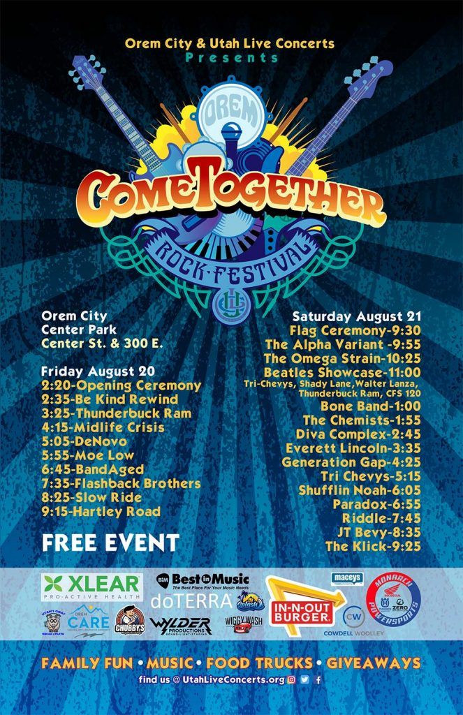 2021 Orem Come Together Rock Festival with bands